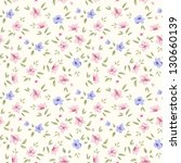 Simple Flower Pattern. Floral...
