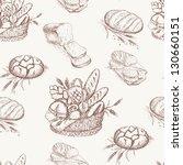 bakery seamless pattern.... | Shutterstock .eps vector #130660151
