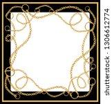 beautiful hand drawn baroque... | Shutterstock .eps vector #1306612774