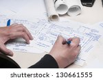 work desk | Shutterstock . vector #130661555