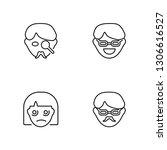 linear gangster  sad  happy ...   Shutterstock .eps vector #1306616527