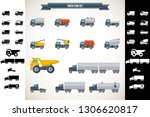 truck icon vector    Shutterstock .eps vector #1306620817