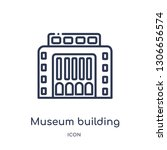 museum building icon from... | Shutterstock .eps vector #1306656574