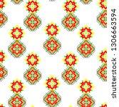 abstract ethnic ikat chevron... | Shutterstock .eps vector #1306663594