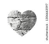 isolated distress grunge heart...   Shutterstock .eps vector #1306663597