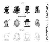 vector design of imitator and... | Shutterstock .eps vector #1306669057