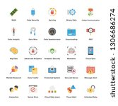 data analytics and... | Shutterstock .eps vector #1306686274