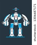 big blue robot single | Shutterstock .eps vector #1306687171