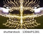 abstract symmetrical... | Shutterstock . vector #1306691281