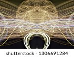abstract symmetrical... | Shutterstock . vector #1306691284