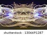abstract symmetrical... | Shutterstock . vector #1306691287