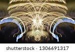 abstract symmetrical... | Shutterstock . vector #1306691317