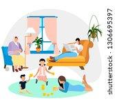 family environment. family... | Shutterstock .eps vector #1306695397