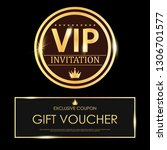 luxury vip invitations and... | Shutterstock .eps vector #1306701577