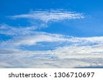 blue sky background with... | Shutterstock . vector #1306710697