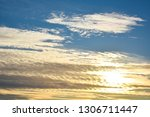 blue sky background with... | Shutterstock . vector #1306711447