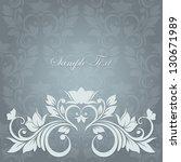 elegant vintage card with...   Shutterstock .eps vector #130671989