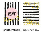 bridal shower card with dots... | Shutterstock .eps vector #1306724167