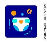 diaper flat color icon. concept ... | Shutterstock .eps vector #1306724521