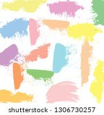 abstract colorful paint brush... | Shutterstock .eps vector #1306730257