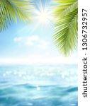 summer defocused background ... | Shutterstock . vector #1306732957