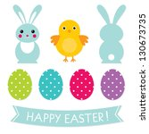 Easter Vector Elements Set