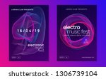 sound flyer. minimal show... | Shutterstock .eps vector #1306739104
