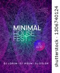 sound flyer. bright discotheque ... | Shutterstock .eps vector #1306740124