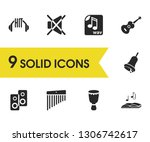melody icons set with mute ...
