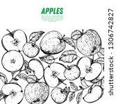 apple hand drawn illustration.... | Shutterstock .eps vector #1306742827