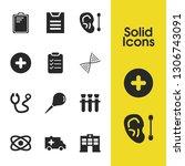medicine icons set with folder  ...