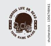 skull head shirt design  vector ... | Shutterstock .eps vector #1306748461