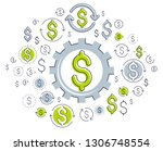 economy system and business... | Shutterstock .eps vector #1306748554