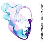 spirit of digital electronic... | Shutterstock .eps vector #1306752904