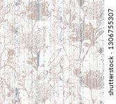 broken plaster  wall stripes...   Shutterstock . vector #1306755307