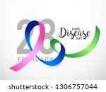 rare disease day poster or... | Shutterstock .eps vector #1306757044