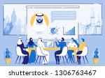 online business meeting.... | Shutterstock .eps vector #1306763467