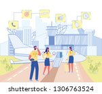 commercial aviation. pilot and... | Shutterstock .eps vector #1306763524
