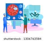 nano technology and robotic... | Shutterstock .eps vector #1306763584