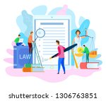 electronic signature. court... | Shutterstock .eps vector #1306763851