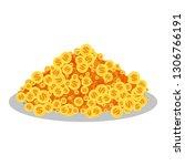 pot of golden coin. flat vector ...   Shutterstock .eps vector #1306766191