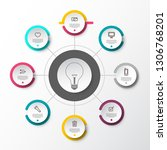 vector infographic presentation ... | Shutterstock .eps vector #1306768201