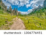 cathedral spires from the... | Shutterstock . vector #1306776451