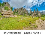 cathedral spires from the... | Shutterstock . vector #1306776457
