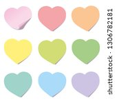 heart post collection. sticky... | Shutterstock .eps vector #1306782181