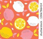 pattern background with lemons. ... | Shutterstock .eps vector #1306786414