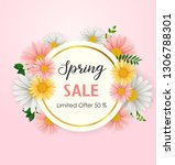 spring sale background with... | Shutterstock .eps vector #1306788301