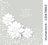 wedding floral card with place... | Shutterstock .eps vector #130678865