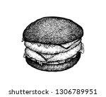 illustration hand drawn sketch... | Shutterstock .eps vector #1306789951
