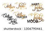 set of hand drawn lettering... | Shutterstock .eps vector #1306790461